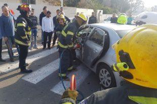 נפגעים בתאונת דרכים בין מספר כלי רכב