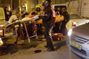 רוכב אופנוע נפצע קל בתאונה
