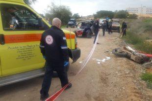 רוכב אופנוע שטח נהרג בתאונה קטלנית כשנפגע מטרקטורון