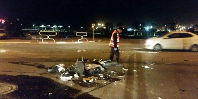 תאונת פגע וברח ברחוב הטיילת - הנהג הסגיר את עצמו
