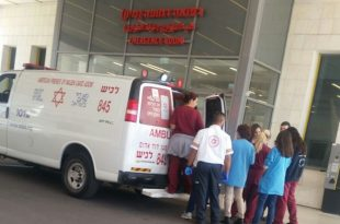 """מזל טוב: צוות מד""""א יילד אישה שכרעה ללדת בשד' ירושלים בעיר"""