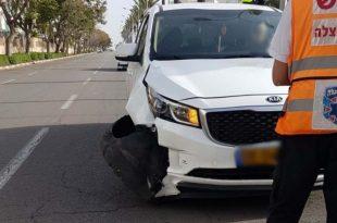 הולכת רגל נפצעה באורח קשה מאוד לאחר פגיעת רכב עוצמתית