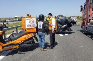 """הח""""כ האשדודי החדש הציל חיים בתאונה קשה בכביש 6"""