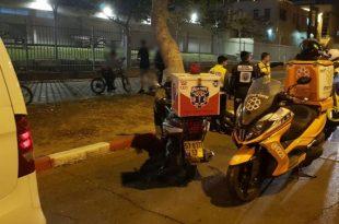נער שרכב על אופנוע נפצע לאחר התנגשות ברכב פרטי באשדוד