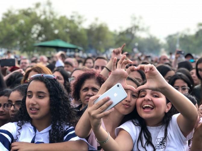 אלפים הגיעו לחגיגות המימונה בפארק