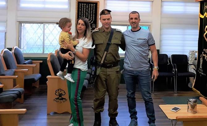 """מח""""ט גולני ביקר בבית הכנסת על שם בן וענונו ז""""ל"""