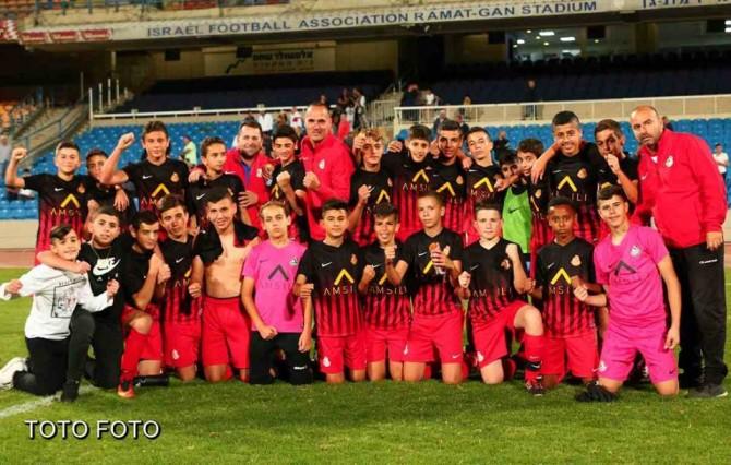 קבוצת ילדים ב' מ.ס אשדוד עלתה לגמר גביע המדינה