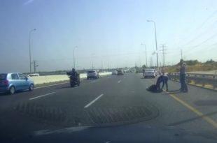צפו בתיעוד: תאונת דרכים קשה מאוד בכביש 4
