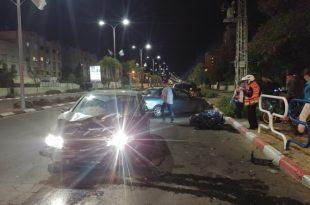 פצוע בתאונת דרכים קשה באשדוד