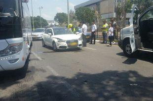 ארבעה פצועים בתאונת שרשרת באשדוד