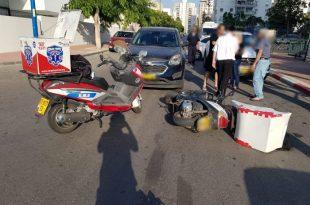 נער בן 17 נפצע בתאונת אופנוע באשדוד