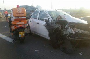 פצועים רבים בתאונה בכביש אשדוד אשקלון