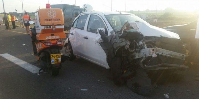 שונות פצועים רבים בתאונה בכביש אשדוד אשקלון - אשדוד אונליין IP-05