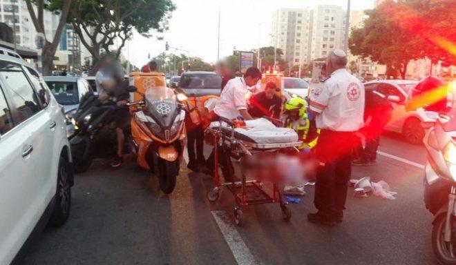 תאונה קשה נוספת: הולך רגל נפצע בינוני