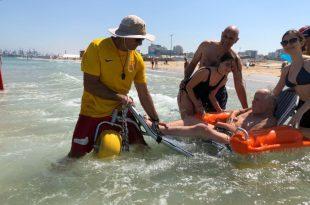 החלום של ניצול השואה בן ה- 80 שהתגשם בחוף הים של אשדוד