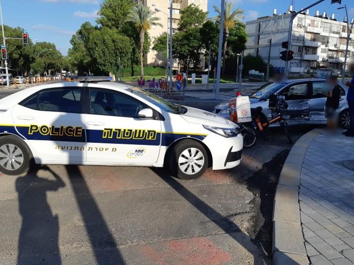 חמישה פצועים בתאונה