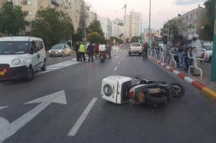 חשד לפגע וברח: רוכב אופנוע נפצע בתאונת דרכים
