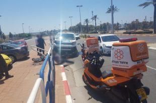 נהג נפגע לאחר שפגע במעקה בטיחות