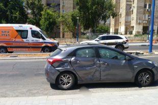 שני ילדים נפגעו בתאונה בין אוטובוס לרכב פרטי