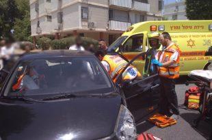 פצועות בתאונה בין שני כלי רכב