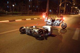 רוכב קטנוע נפגע בתאונה
