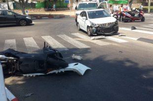 שני נפגעים בתאונת דרכים