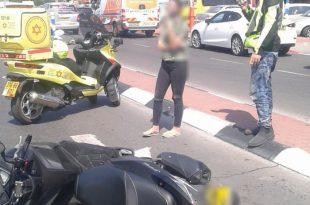 צעיר שרכב על קטנוע נפצע לאחר התנגשות ברכב פרטי