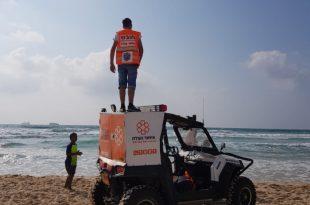 צעיר נפצע באורח בינוני לאחר שטבע בחוף הים באשדוד