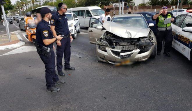 תאונה נוספת: פצועים בהתנגשות שני רכבים באשדוד