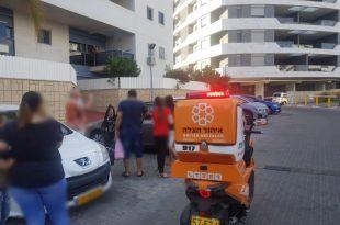רגעי אימה: ילד ננעל ברכב ברובע הסיטי באשדוד