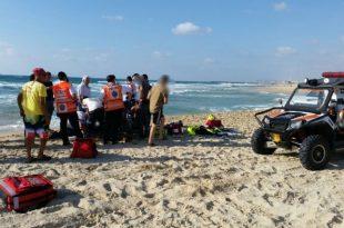 טרגדיה: גבר טבע למוות בחוף הים באשדוד לאחר שניסה לחלץ בחורה שנסחפה