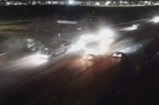 צפו בתיעוד: תאונה קשה בכביש אשדוד - אשקלון