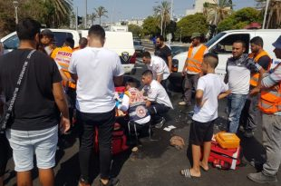 רק נפתח: רוכב אופנוע נפצע בתאונה בשד' הרצל