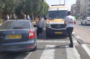 אישה נפצעה בתאונת דרכים שארעה באשדוד