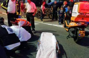 הולכת רגל נפצעה בתאונת דרכים באשדוד