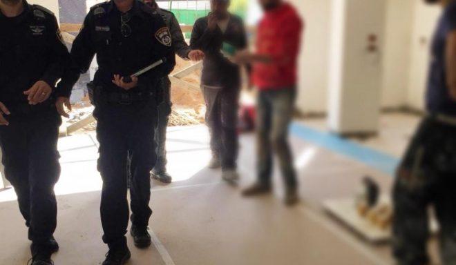 """בתום מרדף: ארבעה שבחי""""ם תושבי השטחים נעצרו באשדוד"""