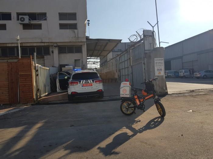 אצבעותיו של פועל נקטעו מדיסק חשמלי באזור התעשייה באשדוד