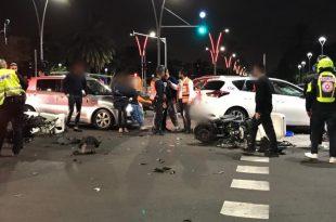 תאונה קשה עם שלושה פצועים אחד מהם קשה