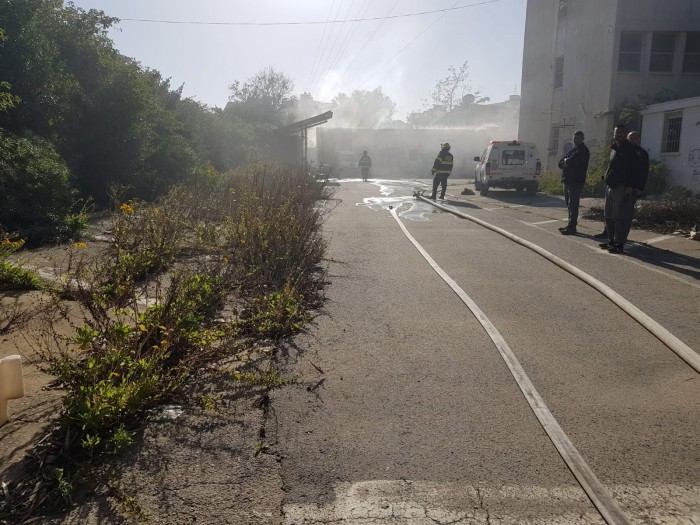 דיווח ראשוני: שריפה בתחנת משטרה באשדוד