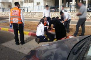 תאונה באשדוד: אוטובוס פגע בהולכת רגל