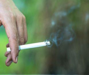 עישון סיגריה בפארק ציבורי