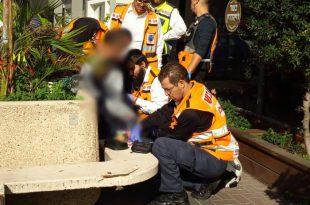פצוע בינוני מכוויות בתאונת עבודה ברח' יהודה הנשיא