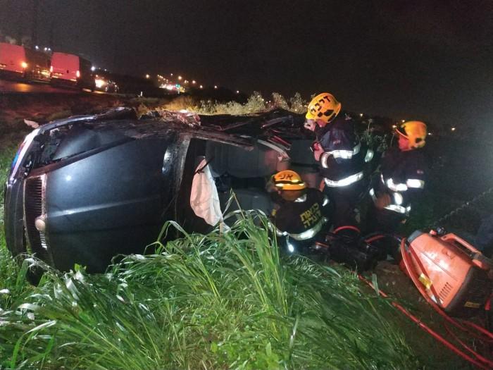 הבוקר: פצוע בינוני בתאונה קשה בה התהפך רכב ליד הנמל