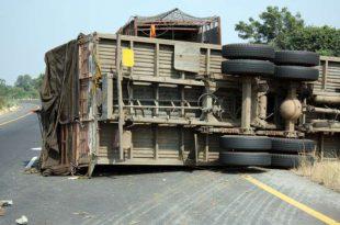תאונת משאית באשדוד