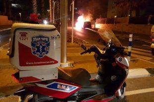 הלילה: רכב עלה באש באשדוד - צפו