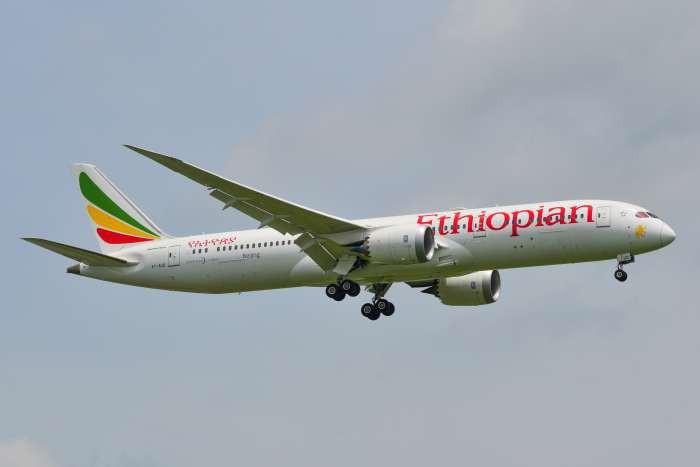 """מטוס חברת """"אתיופיאן איירליינס"""""""