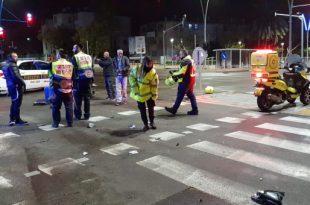 רוכב אופנוע נפצע בתאונה ופונה לבית החולים