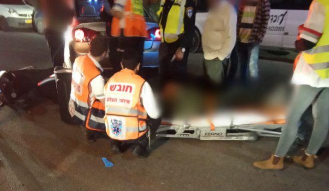 רוכב אופנוע נפצע מפגיעת רכב באשדוד