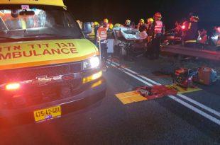 תאונה קשה: פצועים ולכודים בהתנגשות שארעה בין רכב לשני סוסים סמוך לאשדוד