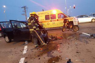 הבוקר: פצוע בתאונה בין שני כלי רכב
